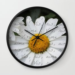 """Live, Laugh, Love"" in French Wall Clock"