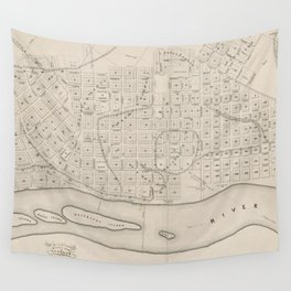 Vintage Map of St. Paul Minnesota (1860) Wall Tapestry