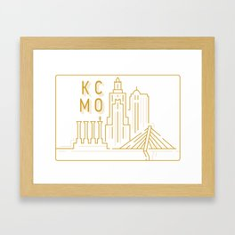 KCMO Skyline Framed Art Print