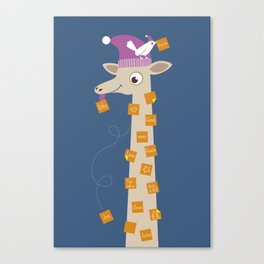 Note Giraffe Canvas Print
