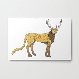 CheetahStag Metal Print