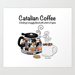Catalian Coffee Art Print