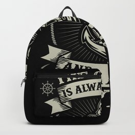 Captain Skipper Sailing Sailor Yacht Backpack