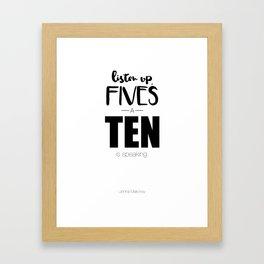 Jenna Maroney - 30 Rock - Typography Framed Art Print