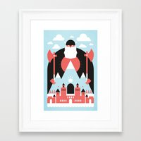 king Framed Art Prints featuring King of the Mountain by Chase Kunz