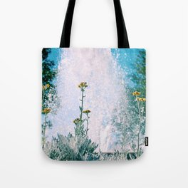 Flowers and Fountains #1 Tote Bag