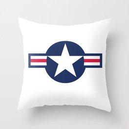 USAF symbol Throw Pillow