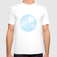 Walking On Cloud Nine  White SMALL Mens Fitted Tee