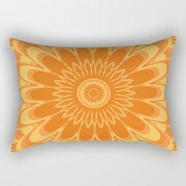 Summer In Full Bloom - Orange Mandala Rectangular Pillow