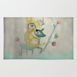 Vintage Whimsical Christmas Rug