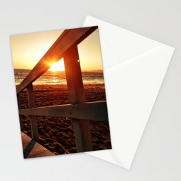 "Redondo Beach ""Life Guard Tower 2"" Stationery Cards"