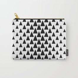Scandinavian Triangle Tree Design Carry-All Pouch