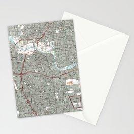 Sacramento California Map (1992) Stationery Cards