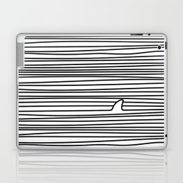 Minimal Line Drawing Simple Unique Shark Fin Gift Laptop & iPad Skin