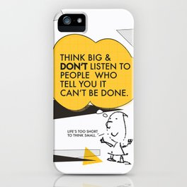 Think Big Awemous Quote iPhone Case