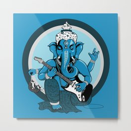 Ganesha rocks ! (v1) Metal Print