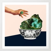 geode Art Prints featuring GEODE by Beth Hoeckel