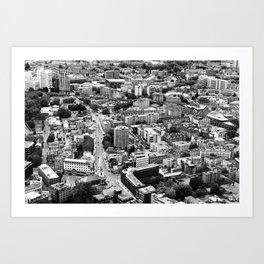 London Urban Cityscape Monochrome Art Print