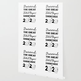 I survived the great toilet paper shortage of 2020 calligraphy hand lettering.  Wallpaper