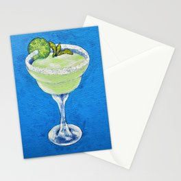 Extra Salty; no ICE! by Mike Kraus - cocktail drink alcoholic beverage mexico american margarita Stationery Cards