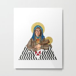 Our Log Lady Of Perpetual Help Metal Print