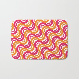 refresh curves and waves geometric pattern Bath Mat