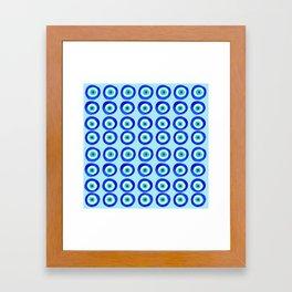 Evil Eye Amulet Talisman - on turquoise Framed Art Print