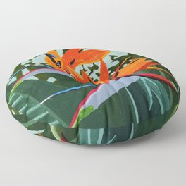 Strelitzia - Bird of Paradise Floor Pillow