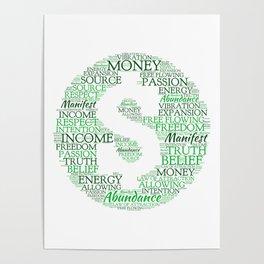 Financial Abundance Word Art Poster