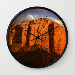 COURTHOUSE ROCK - SEDONA ARIZONA Wall Clock