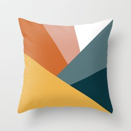Abstract Shapes Design with Modern Colors Throw Pillow