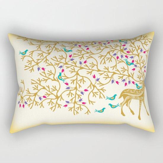 Deer Beautiful Burden Rectangular Pillow