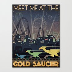 Final Fantasy VII Gold Saucer Travel Poster Canvas Print