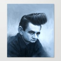 johnny cash Canvas Prints featuring Johnny Cash by Thomas J. Moore
