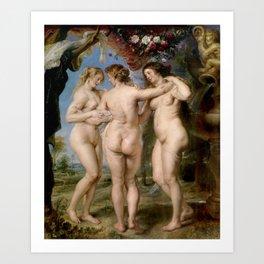 Las Tres Gracias - Pedro Pablo Rubens Art Print