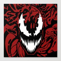 carnage Canvas Prints featuring carnage by Rebecca McGoran