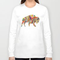 buffalo Long Sleeve T-shirts featuring Buffalo by Alex Dehoff