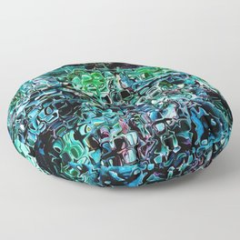 Turquoise Garden of Glass Floor Pillow