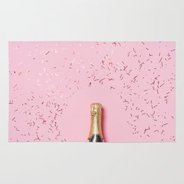 Pink Champagne Party Rug