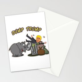 Anti Trump Liberty Political Communism Activist Impeach Hilarious Trump Gift Funny Elephant-Dump Stationery Cards