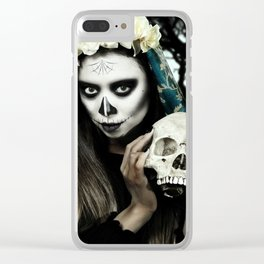 Dia de los Muertos 2 Clear iPhone Case