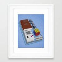 kit king Framed Art Prints featuring Geek Kit by Bakus