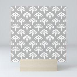 Floral Pattern Gray 241 Mini Art Print