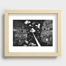 Containment Breach Recessed Framed Print