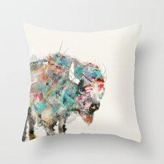 into the wild the buffalo Throw Pillow