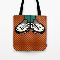 air jordan Tote Bags featuring AIR JORDAN 5 by originalitypieces