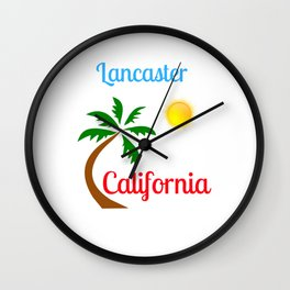 Lancaster California Palm Tree and Sun Wall Clock