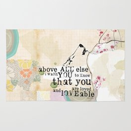 Above All You are Loved Rug