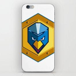 Cyber Punk Chicken Hexagon Icon iPhone Skin