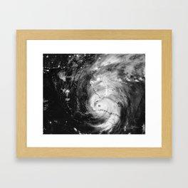 Hurricane Irma Infrared Image Framed Art Print